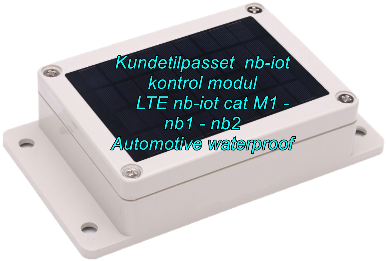 New customized waterproof IP66 Automotive nb-iot control module with GPS & Battery backup Kundetilpasset NB-iot kontrol modul med GPS & Batteri backup elektronikudvikling